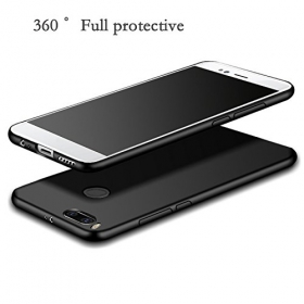 Slim Flexible Soft Back Case Cover For Xiaomi Mi A1 - Android One [matte Black] 360 Degree Coverage