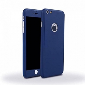 360 Degree Full Body Protection Front & Back Case Cover (ipaky Style) With Tempered Glass For Apple Iphone 5 / 5s (blue)