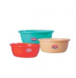 Pavan Plastic Tub - Bucket Set Of 2 (28 Liters Assorted Color)