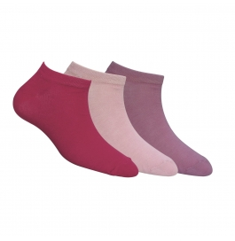 Footmate Women Ankle Socks (shades Of Pink) (3 Pair Pack)