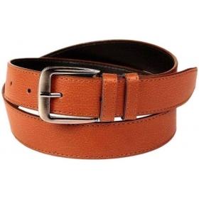 Men Tan Genuine Leather Belt