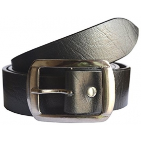 Men Black Artificial Leather Belt