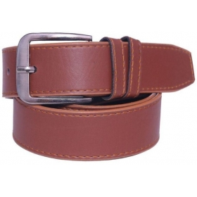 Men Tan Artificial Leather Belt