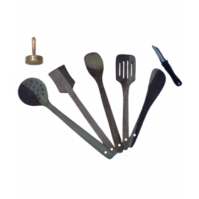 Desi Karigar Wooden Kitchen Tool Set Of 7