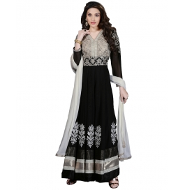 Black Color Suit With Bottom And Dupatta