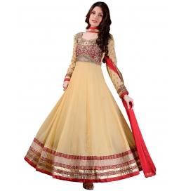 Beige Color Suit With Bottom And Dupatta