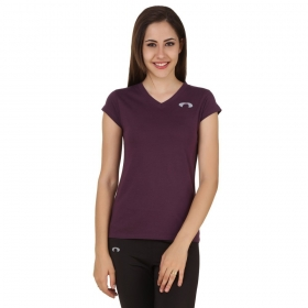 Arc Solid Purple Top For Girls