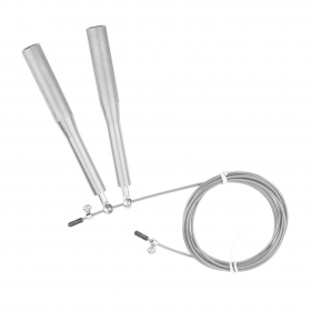 Adjustable Metal Handle Skipping Jump Rope Boxing Fitness Gym Jumping Silver