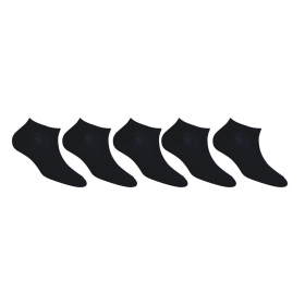 Footmate Women Black Ankle Socks (5 Pair Pack)