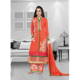 Faux Georgette Designer Party Wear Semi Stitched Salwar Kameez &8211, 5192