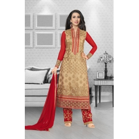 Faux Georgette Designer Party Wear Semi Stitched Salwar Kameez &8211; 5197