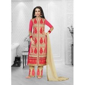 Faux Georgette Designer Party Wear Semi Stitched Salwar Kameez &8211, 5199