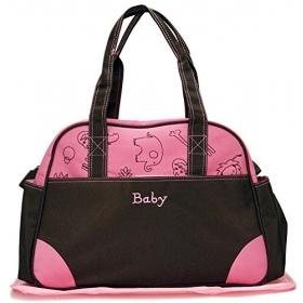 Baby Diaper Bag / Nappy Changing Bag /multi-purpose Mother Shoulder Nursery Travel Messenger Bag (pink)
