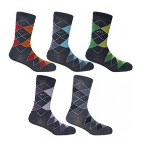 Footmate Men Designer Full Length Socks (5 Pair Pack)