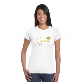 Queen T-shirt For Women, Valentine Gifts For Wife, Anniversary Gifts For Wife Cotton