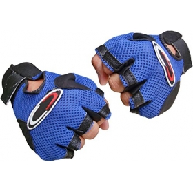 Netted Heavy Leather Padding Gloves With Support