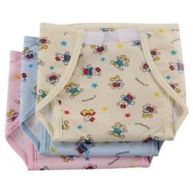 Baby Small Nappy U Shape Bothside Plastic Printed (multi Color)