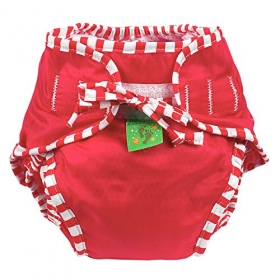 Cloth Swim Diaper  Red Medium