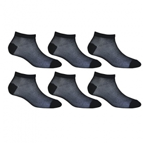 Footmate Socks Women Black Fishnet Socks (pack Of 6)