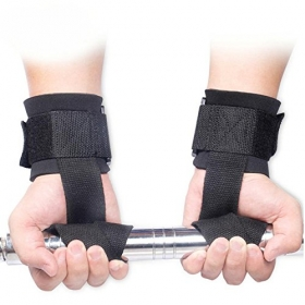 Weight Lifting Hand Bar Grips Straps Wrist Support Gym Training Wrapsgloves