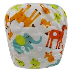 Cloth Diapers Reusable - All In One Cloth Diaper (orange Giraffe Print)