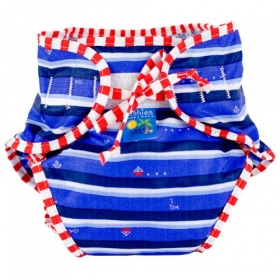 Swim Diaper, Blue Ahoy Print, X-large