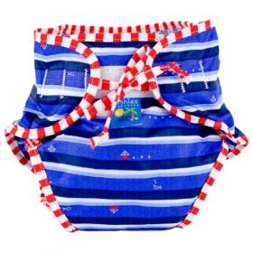Swim Diaper, Blue Ahoy Print, X-large