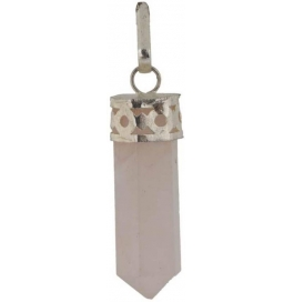 Shopoj Natural Healing Rose Quartz Pendent - Pencil Quartz Stone Pendant