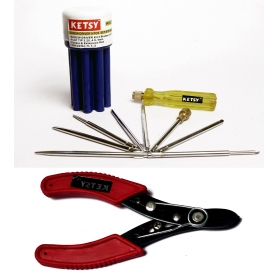Ketsy 548 Combination Screwdriver Set Of 9 Pcs. And Wire Cutter 6 Inch