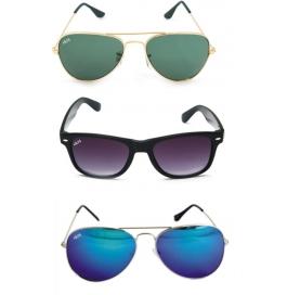 Sunglasses Aviator multicolor Goggles with leather Cover