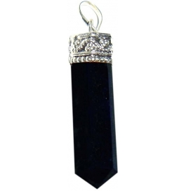 Shopoj Black Pencil Pendant Kavach Quartz Stone Pendant