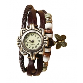 Festival Offer Brown Casual Analog Leather Women Wrist Watch