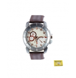 Rise N Shine White Matt Dial Dummy Chronograph Sport Analog Mens Watch