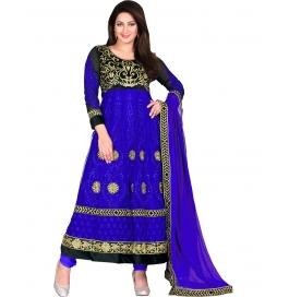Blue Color Net Designer Anarkali Suit