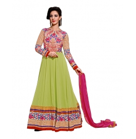Green Color Suit With Bottom And Dupatta