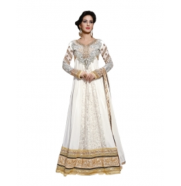 Off White Color Suit With Bottom And Dupatta