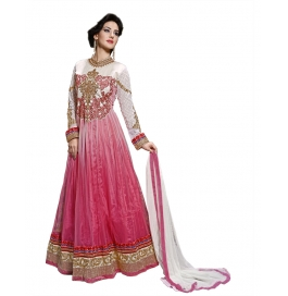 Pink Color Suit With Bottom And Dupatta