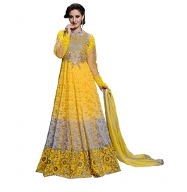 Yellow Color Suit With Bottom And Dupatta