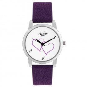 Aavior Women's Analog White Dial Wrist Watch-aa-1099
