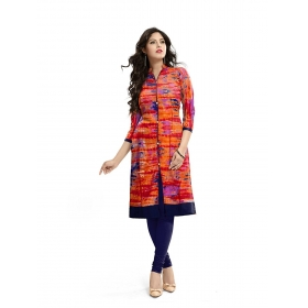 Exclusive Designer Red And Blue Kurti