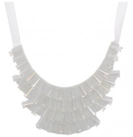 White Stone Collar Sautoir