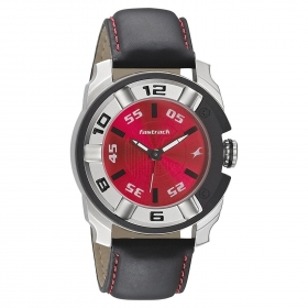Fastrack Analogue Red Dial Watch For Men - 3150kl02