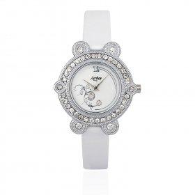 Aavior Women's Analog White Dial Wrist Watch-aa-1080.1