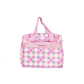 Baby Diaper Changing Bag Printed Mummy Bag Baby Diaper Bag (pink)