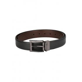 Men's Classic Reversible Black Leather Belt