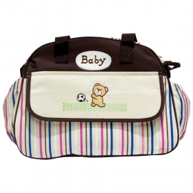Multi-functional Baby Diaper Nappy Changing Bag (brown)