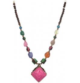 Loveesa Fuhaar Pink Artificial Multicolor Jewellery