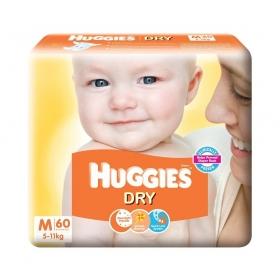 Huggies New Dry Medium Size Diapers (60 Counts)