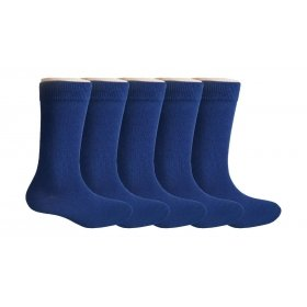 Footmate Socks Kid's Navy Uniform Socks ; Age: 9-10 Yr (5 Pair Pack)