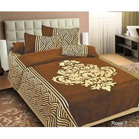 Velvet Bedsheet King Size (premium 500 Tc Chenille 1 Douboe Bedsheet With 2 Pillow